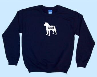 "Bullmastiff ""DAD"" - Dog Crewneck Sweatshirt"
