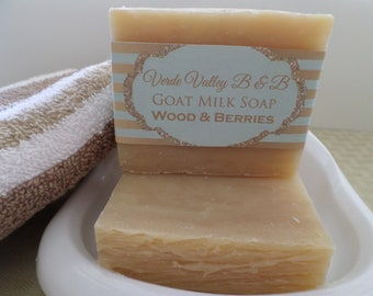 Wood & Berry Soap, Wood Berry Goat Milk Bar Soap, Wood Berry Goat Milk Soap Bar, Goat Milk Soap, Handmade Soap, Natural Soap, Vegan Soap