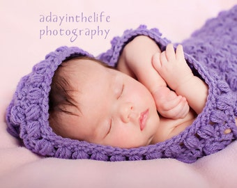 Lacy Cuddle Cocoon with Hood pdf PATTERN, bunting, photo prop to crochet for baby, digital download, instant download