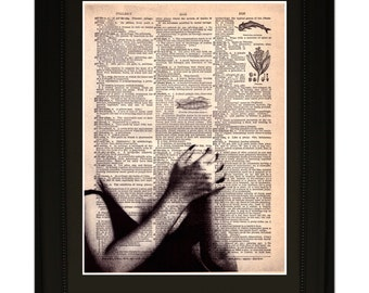 """Soul''.Dictionary Art Print. Vintage Upcycled Antique Book Page. Fits 8""""x10"""" frame"""