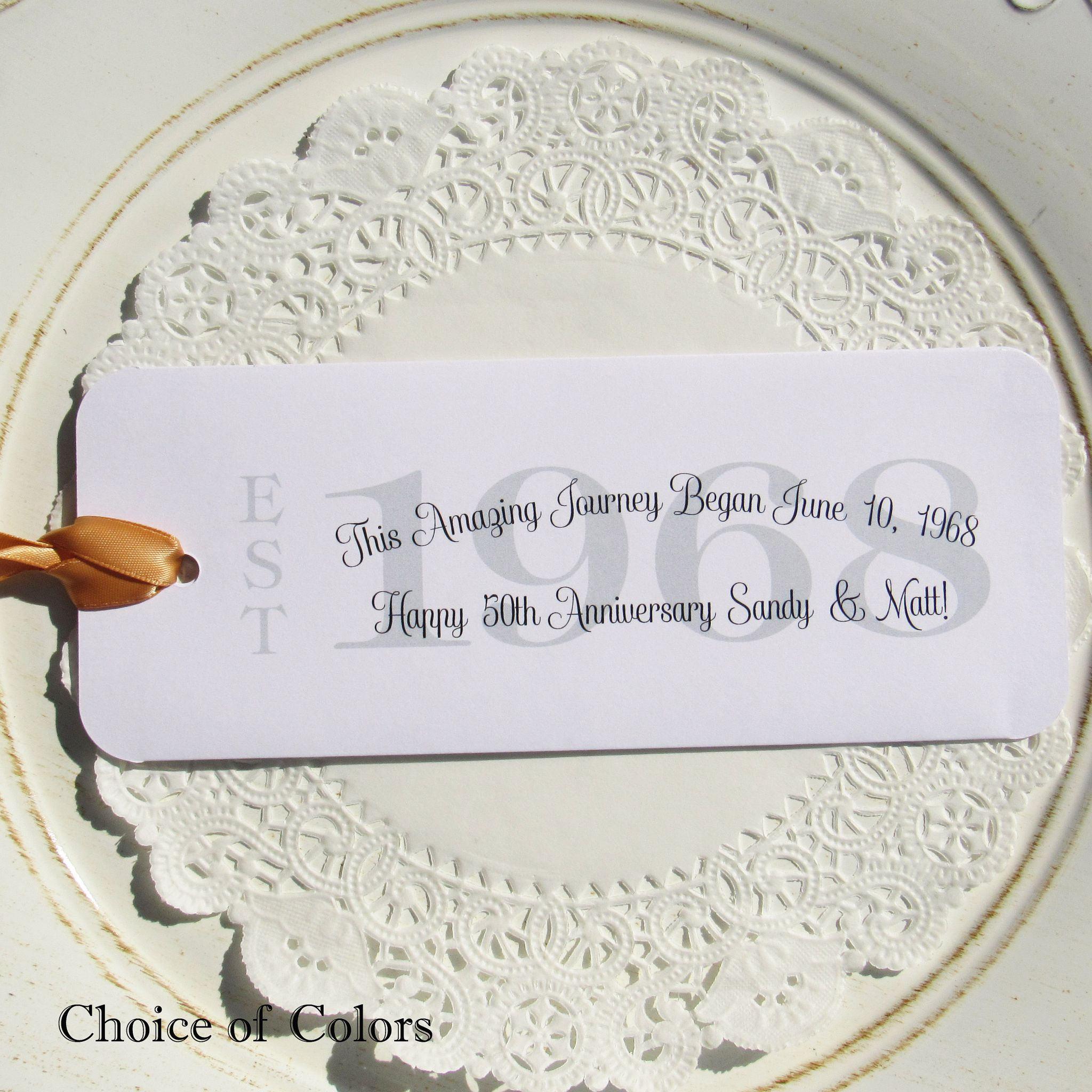 Wedding Anniversary Favors 50th Wedding Anniversary
