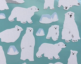 Kawaii Bear Stickers - Polar Bear & Iceburg