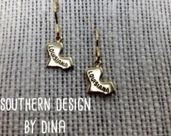 Brass Louisana Earrings