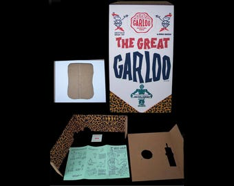 "The 1961 Marx GREAT GARLOO"" BOX and all box accessories reproductions totally glorious replica for your beloved vintage toy"