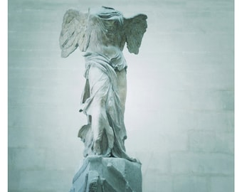 Winged Victory Of Samothrace Statue at the Louvre Museum, Paris 8 x 10 Fine Art Print, Paris France, Romantic Statue-Guardian Angel, Dreamy