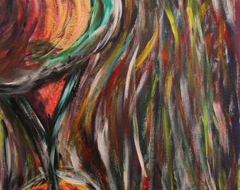 """Freestyle Collection - Original, Custom, Abstract Acrylic Painting on Canvas 16"""" x 20"""""""