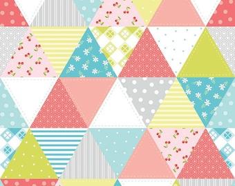 Triangle Geometric Patchwork Fabric - Glamper-licious