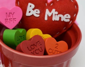 Candy Heart Crayons - Set of 8
