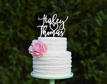 Wedding Cake Topper, Custom Wedding Cake Topper, Personalized Cake Topper for Wedding, First Names Wedding Cake Topper, Bridal Shower Topper