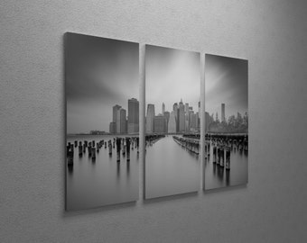 NYC1 by Moises Levy Gallery Wrapped Canvas Triptych Print