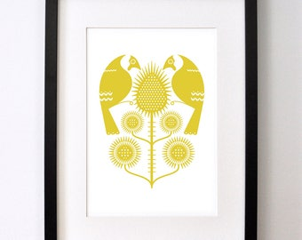 Goldfinches and Thistles - Signed Open Edition Giclee Print