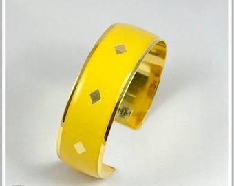 2 cm gold plated 24 k solid yellow Pamela Cuff Bracelet