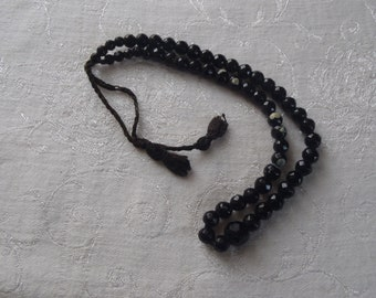 Vintage Necklace French Jet Beads