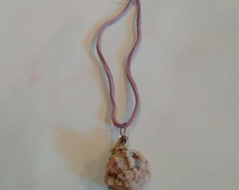 Hand Painted Sea Shell Necklace