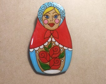 Matryoshka Brooch