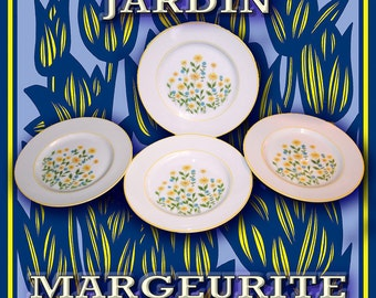"Margeurite by Jardin  7-1/2 ""Plates"