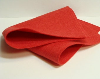"Strawberry Dream 20% Merino Wool Felt Blend Fabric Sheet Size 9"" x 12"" from woolhearts"