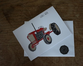 Ford 601 // Tractors // Greetings Card