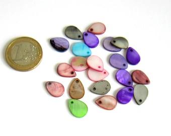 5 charm drops 13 x 9 mm Pearl