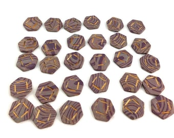Board game pieces cube symbol resources with gold on polymer clay unique gamer accessory