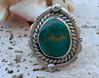 Blue Turquoise and Sterling Silver Ring | Southwest Ring | Southwestern Jewelry | Native American Jewelry | Native American Ring | Boho Ring