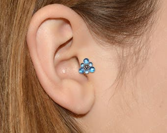Tragus Earring Surgical Steel - Forward helix stud, conch barbell stud, cartilage piercing
