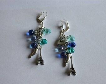 Earring dangle charm and beads