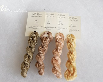 Hand dyed cotton thread / floss (6 strands) 4 colours exclusive pastel collection for cross stitch / embroidery