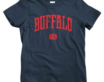 Kids Buffalo 716 T-shirt - Baby, Toddler, and Youth Sizes - Buffalo NY Tee, New York - 4 Colors