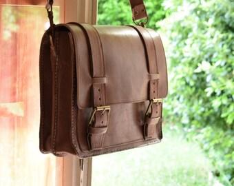 leather satchel Messenger bag new