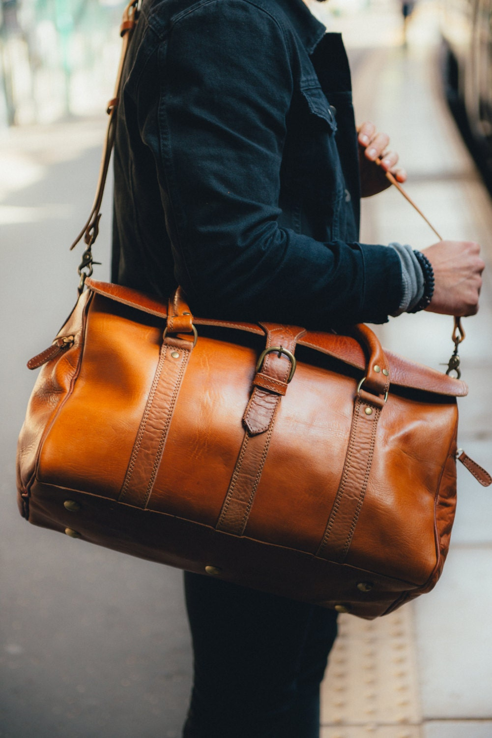 Brown Mens Bag