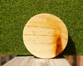 Wood Pattern Pocket Mirror