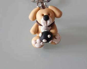 Dog Keychain with ball