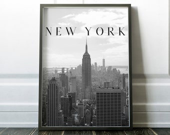 New York, Photography, Typography Printable Poster 8x10, Downloadable, Art Room Decor, Digital File, Instant Wall Art, Quote, Gallery Wall