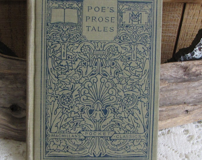 Edgar Allen Poe McMillan's Pocket Classics Selections from the Prose Tales Antique Books and Authors
