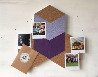 Purple Hexagon pinboard