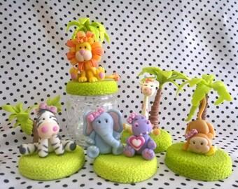 Tiere Dschungel schöne/Polymer Ton/Variation in schönen Tiere.