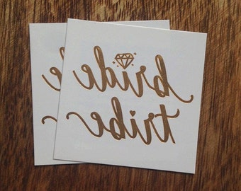 Gold Metallic Flash Bachelorette Party Temporary Tattoos, Bride Tribe