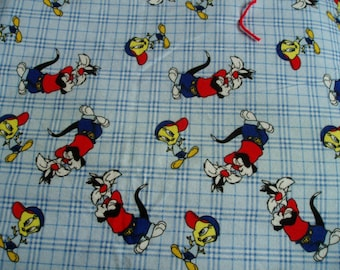 Tweety and Sylvester Cuddle Throw Quilt/Blanket