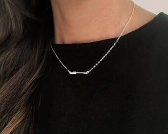 WAY Arrow sterling silver necklace, arrow necklace, silver arrow necklace, 925 sterling silver arrow necklace, minimal arrow necklace, arrow