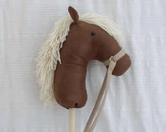 Handsome Stick Pony Hobby Horse Made to Order Horse on a Stick dapper derby gift