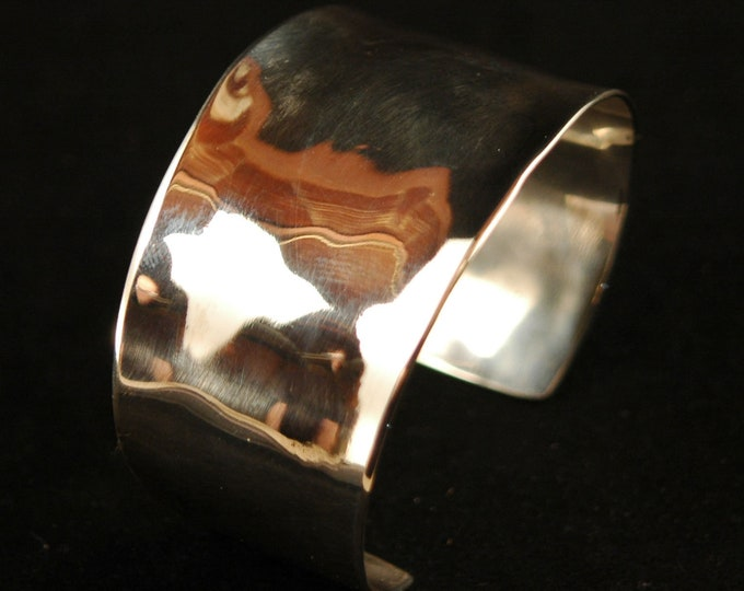 Solid Sterling Silver Cuff-Handmade Artisan Forged Solid Sterling Silver Bracelet Design Created by Michael Ferreira on Etsy