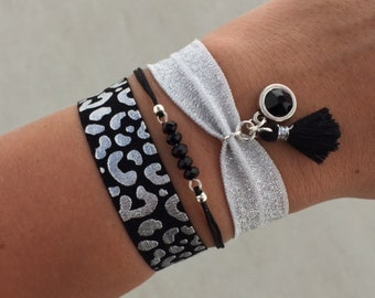 Ibiza bracelet set   free shipping   Aztec   summer   quote   tropical   silver   black   sparkle   mothers day