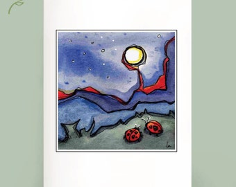MoonBugs - Set of 6 Note Cards