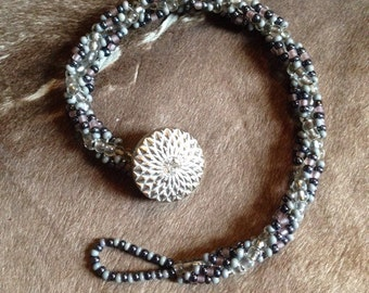 Spiraling beaded bracelet