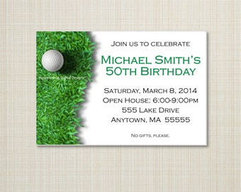 Golf Birthday Invitation - You Print