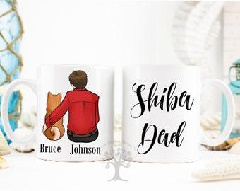 Personalized Shiba Inu Mug, Shiba Inu Mug, , Shiba Inu Dad Mug, Gift For Dog Dad, Gift For Shiba Inu Lover, Shiba Inu Gifts,