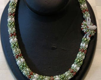 """Daydreamer Rope Necklace-""""Thin Mints"""""""