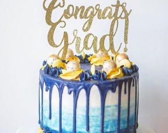 Congrats Grad! Cake Topper