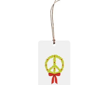 Christmas Gift Tag – Peace Wreath.